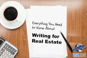 How to write effectively for real estate
